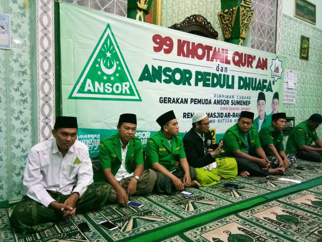 Peringati Nuzulul Qur'an, GP Ansor Sumenep Santuni dan Buka Bersama Anak Yatim