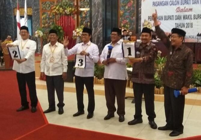 Usai Pengambilan Nomor Urut, Begini Komentar Tiga Paslon Pilkada Bangkalan