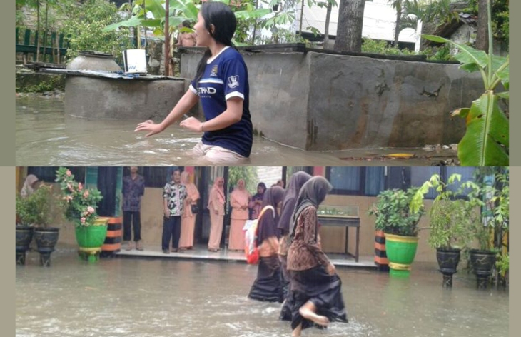 Banjir Rendam Sebagian Wilayah Pamekasan, Tantangan Buat Cabup Terpilih