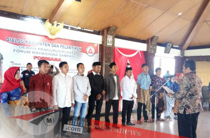 Pelantikan FORMASA 2018-2020, Pemuda Harus Kreatif