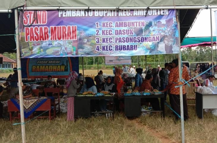 Camat Arif Minta Masyarakat Manfaatkan Pasar Murah Jelang Idul Fitri di Rubaru
