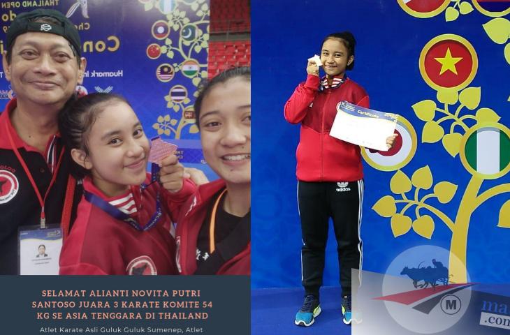 Biaya Sendiri, Karateka asal Sumenep Juara Tiga se Asia Tenggara