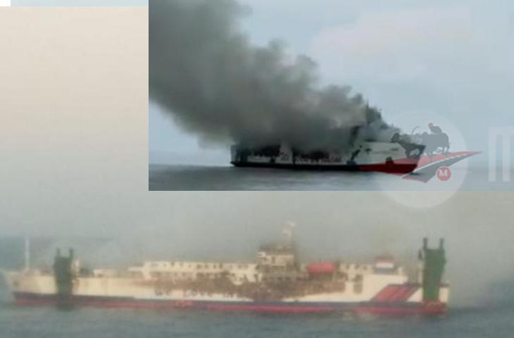 115 Penumpang Kapal yang Terbakar, Sebagian Loncat ke Laut