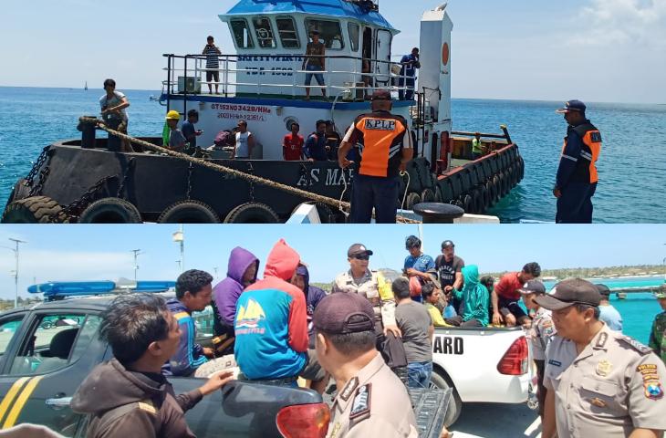 Perahu Nelayan Ditabrak Tugboat, 12 Orang Terlempar di Laut Masalembu