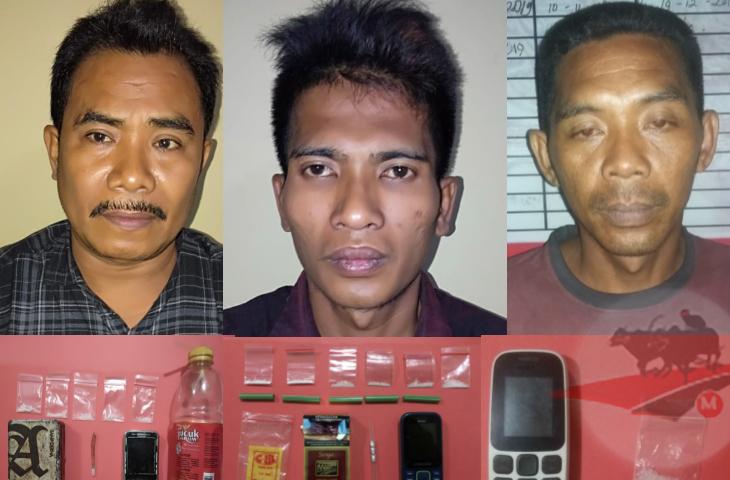 Satu Malam, Polisi Tangkap Pengguna dan Dua Pengedar Narkoba Tingkat Desa
