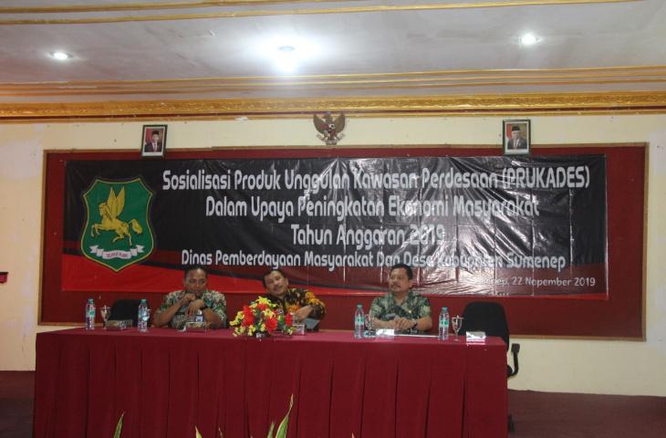 DPMD Sumenep Gelar Sosialisasi Prukades, Ini Tujuannya